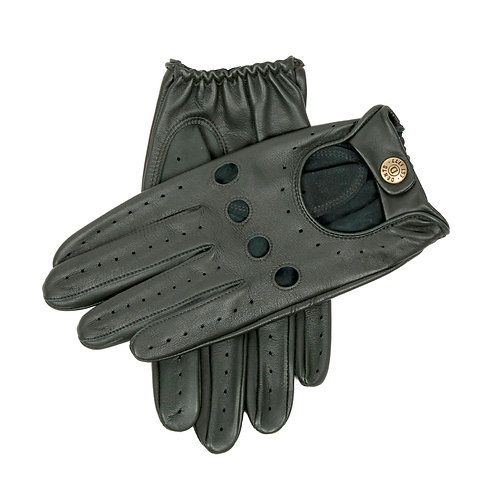 British Racing Green Leather Gloves