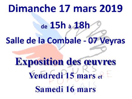 Vente aux enchères d'œuvres d'art – Secours Populaire de l'Ardèche