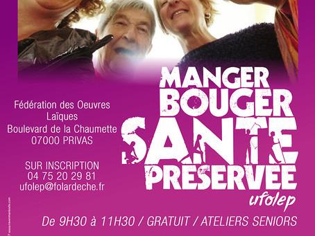 Ateliers : Manger, bouger, santé préservée avec l'UFOLEP Ardèche