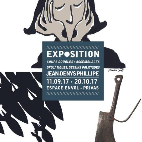 Coups doubles : assemblages drolatiques, dessins politiques – Exposition Jean-Denys Phillipe