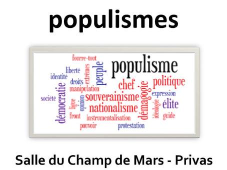 Conférence : la montée des populismes – CLEEP Privas