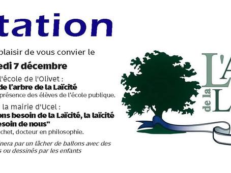 Plantation de l'arbre de la laïcité à Ucel