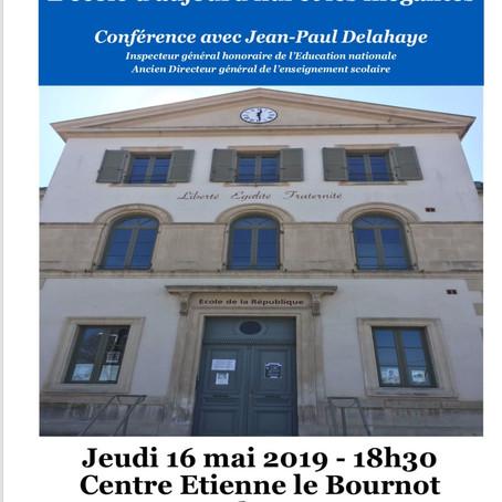 Conférence « L'école d'aujourd'hui et les inégalités » – Carrefour Laïque d'Aubenas