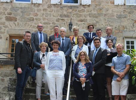 Visite de Mme la Rectrice au Château de Soubeyran pour les colonies apprenantes !