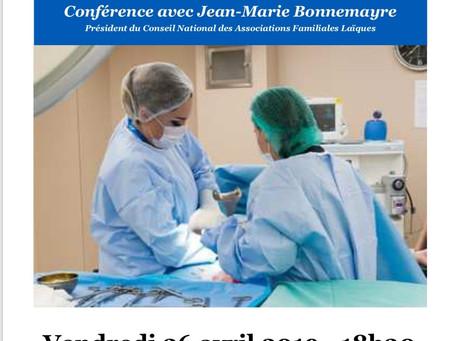 La bioéthique au cœur des débats – Conférence Jean-Marie Bonnemayre – Carrefour Laïque d'Aubenas