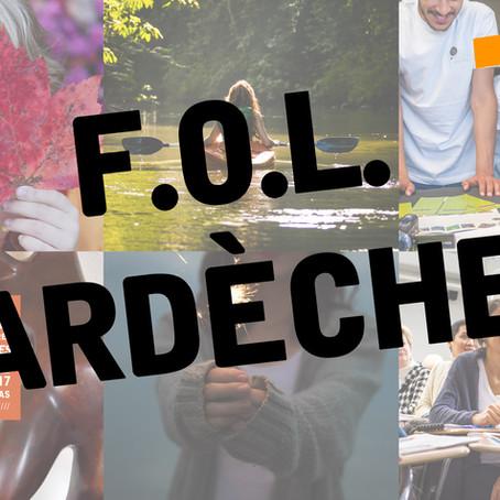 Conseil d'administration de la F.O.L. Ardèche 2019-2020