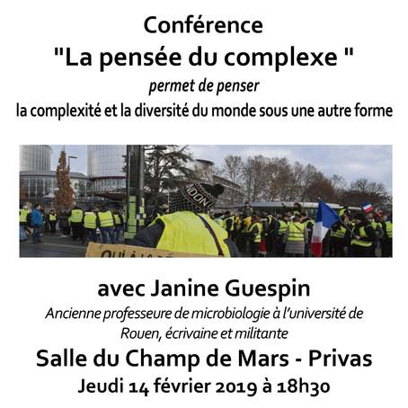 Conférence « La pensée du complexe »