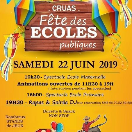 Fête de l'école de Cruas - 2019