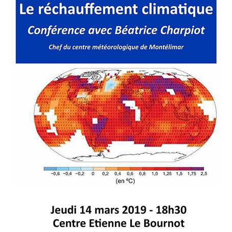 Le réchauffement climatique – Conférence avec Béatrice Charpiot – Carrefour Laïque d'Aubenas