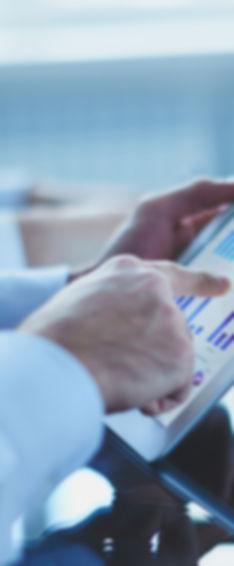 Les données sur une tablette tactile