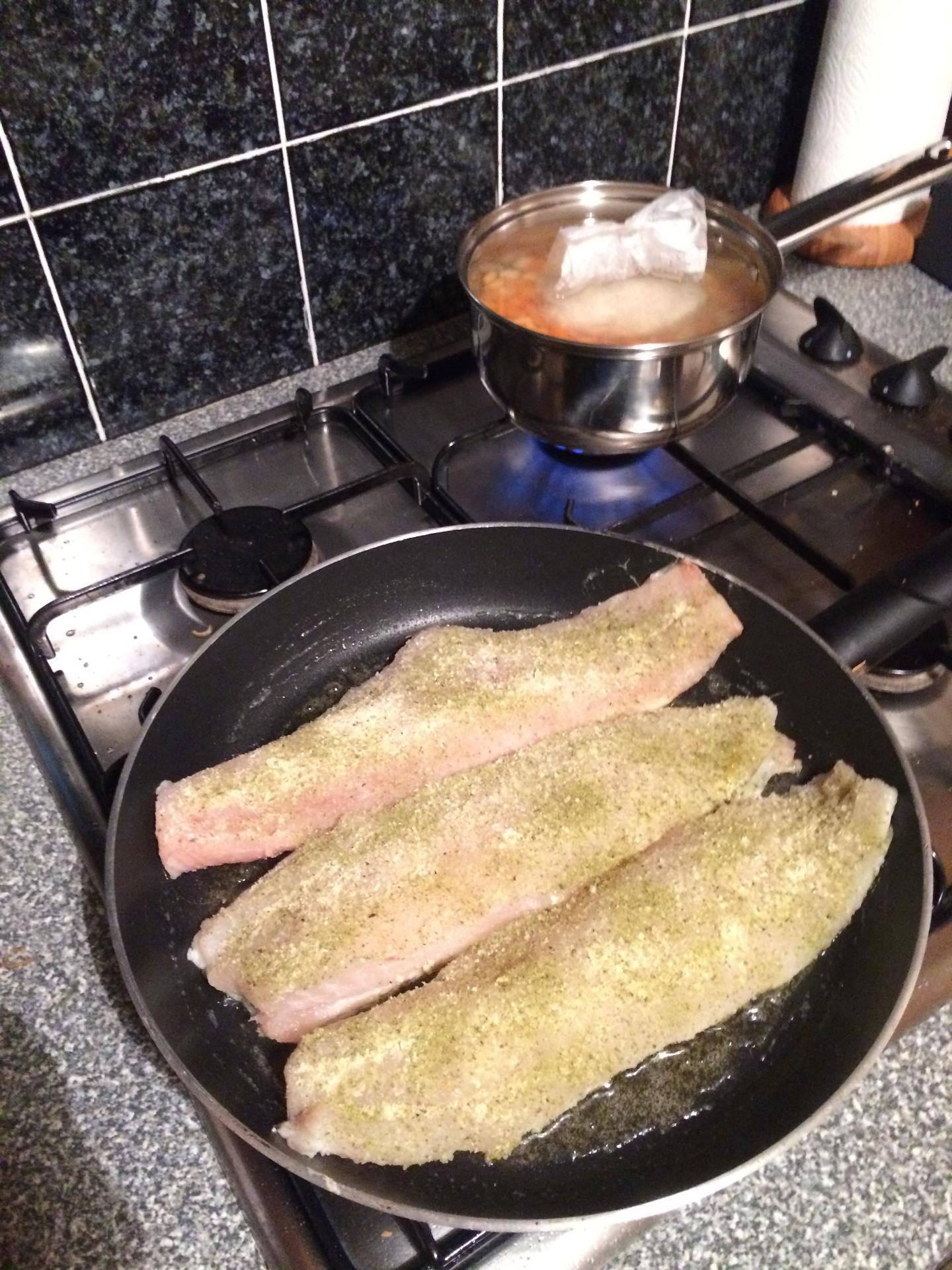 Seasoned Cod pan fried
