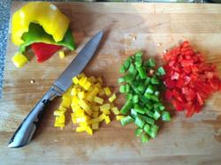 Chop up veg