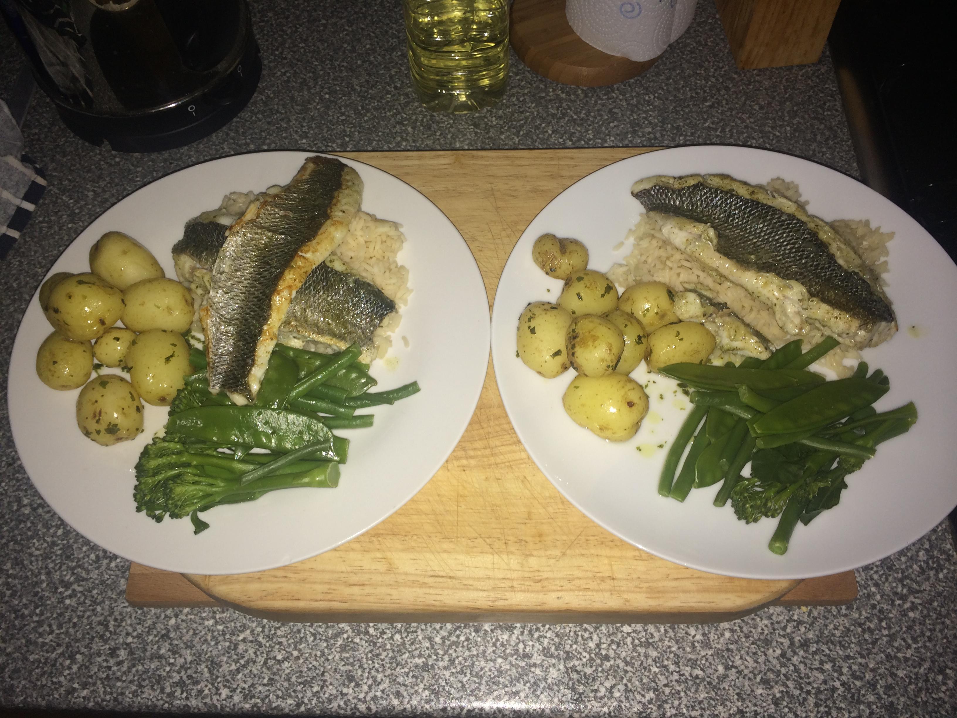 Sea Bass Pan Fried