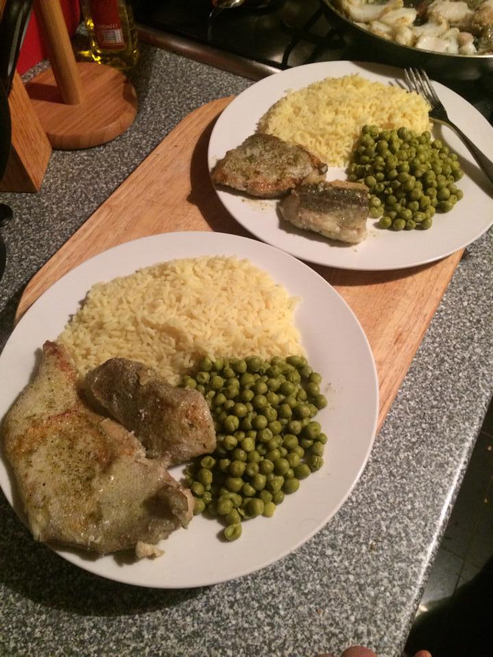 Cod Rice and Peas