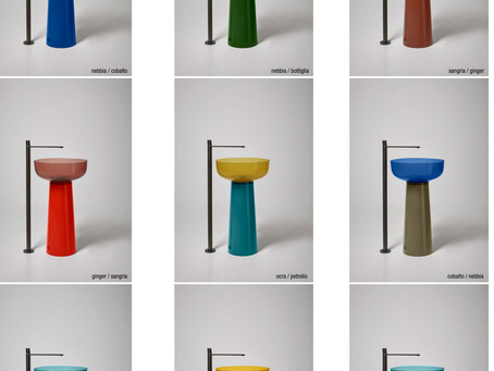 تشكيلة أنتونيولوبي للمغاسل تركز على مبدأ التناقض في جمال الألوان والمواد