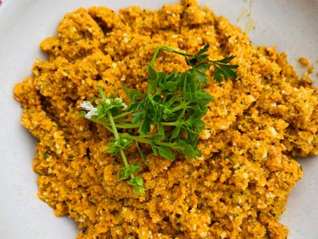 Les carottes d'Hélène, crues et mixées