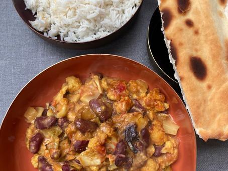 Curry de chou-fleur et haricots rouges
