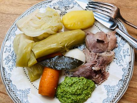 Mon Pot au Feu du dimanche et sa sauce verte