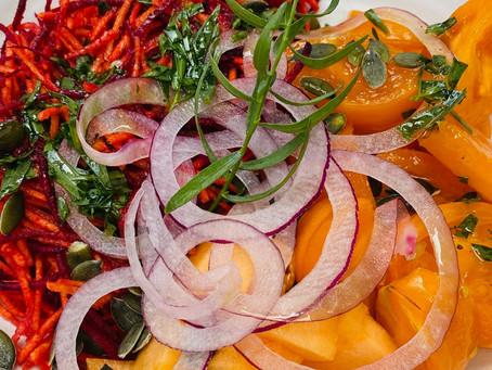 Salade détox Rouge et orange