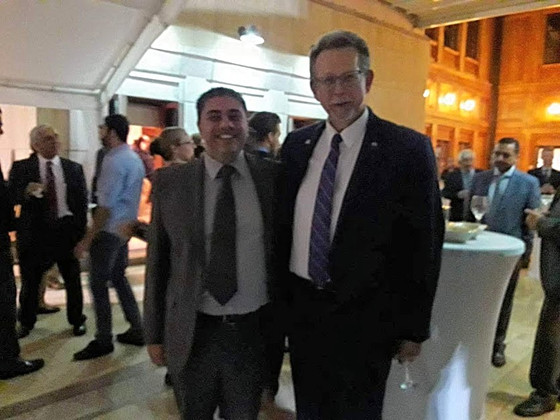 Dr. Stelios Tsangarides, of ADELVE,  in the U.S Embassy- Meeting NASA Chief Scientist Dr. Jim Green.