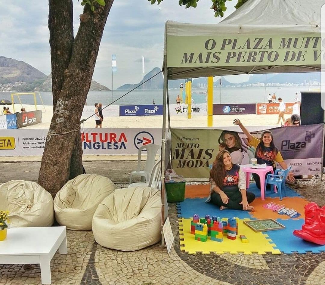 Stand Shop Plaza na praia de Icaraí