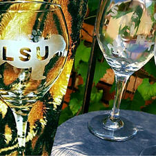 Etched Wine Glasses