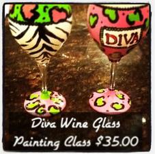 Enamel Glass Painting- Diva