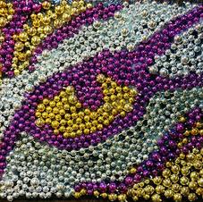 Mardi Gras Bead Mosaic- Tiger Eye