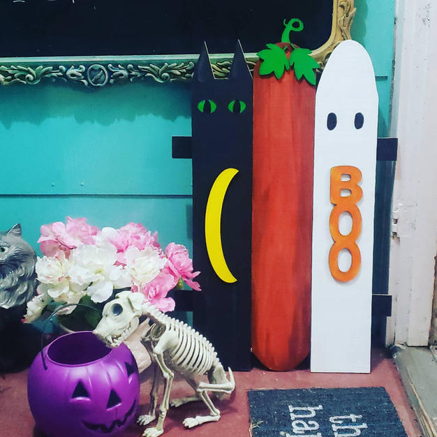 Halloween Painted Pickets