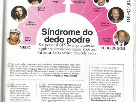 Matéria na revista Glamour