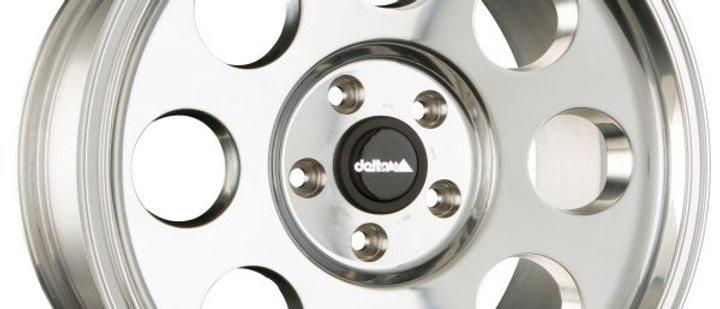 Delta Klassik Alu Polished / Black / Mat Black