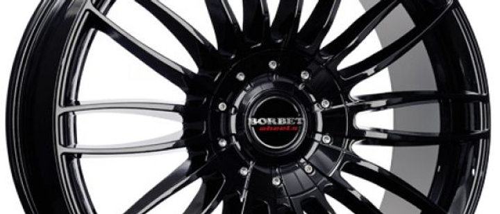 Borbet CW3 Black Glossy / Sterling silver
