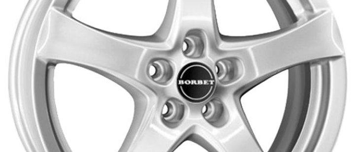 Borbet F Brilliant silver / Black Glossy