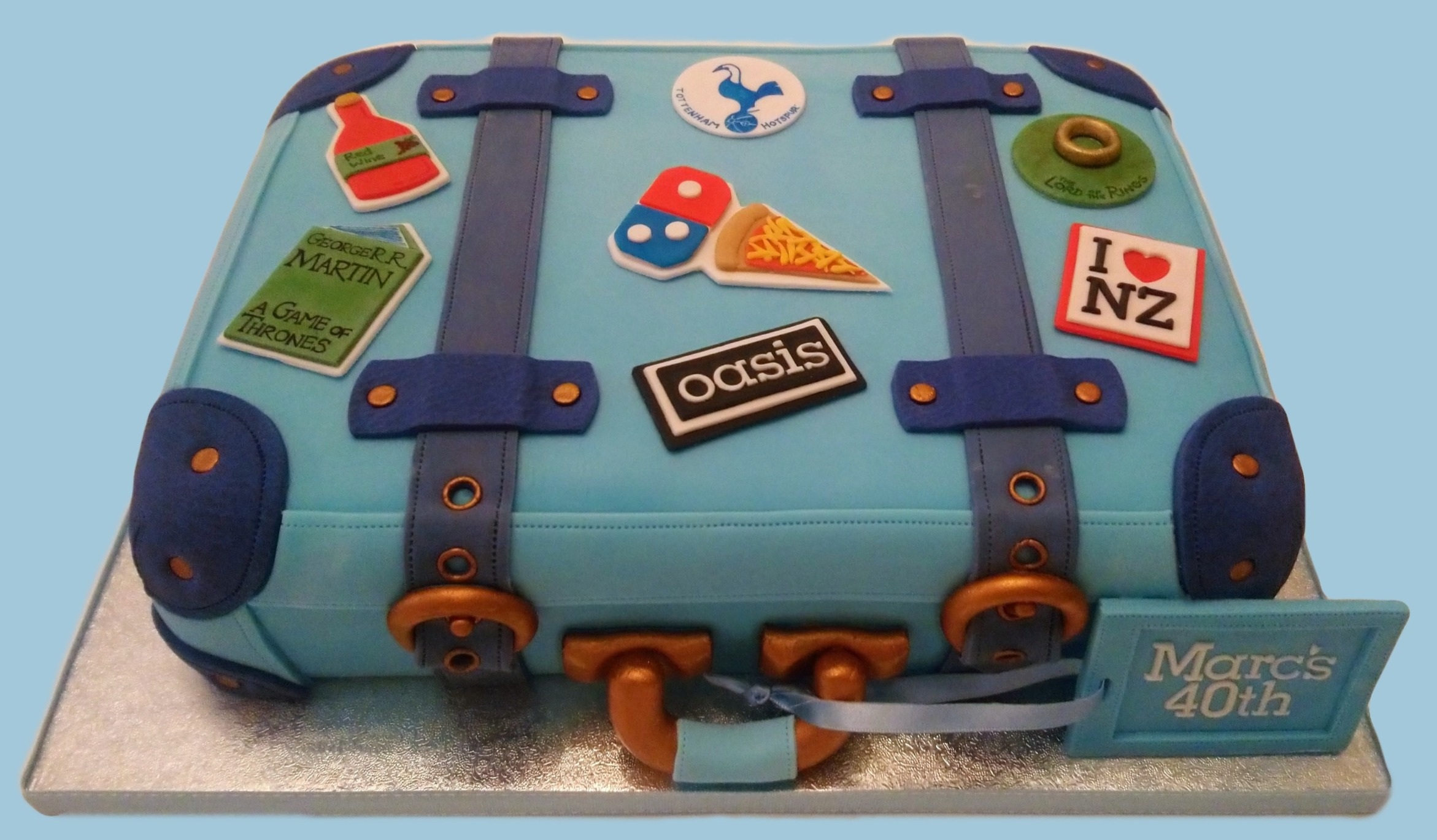 Holiday Suitcase Cake