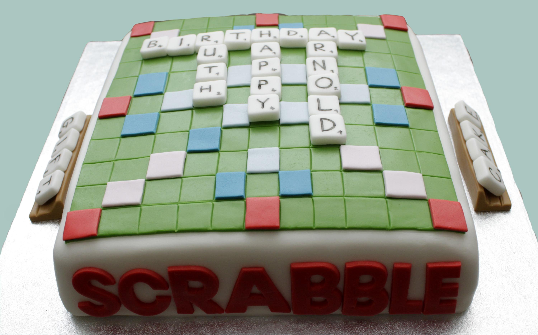 Scrabble Cake