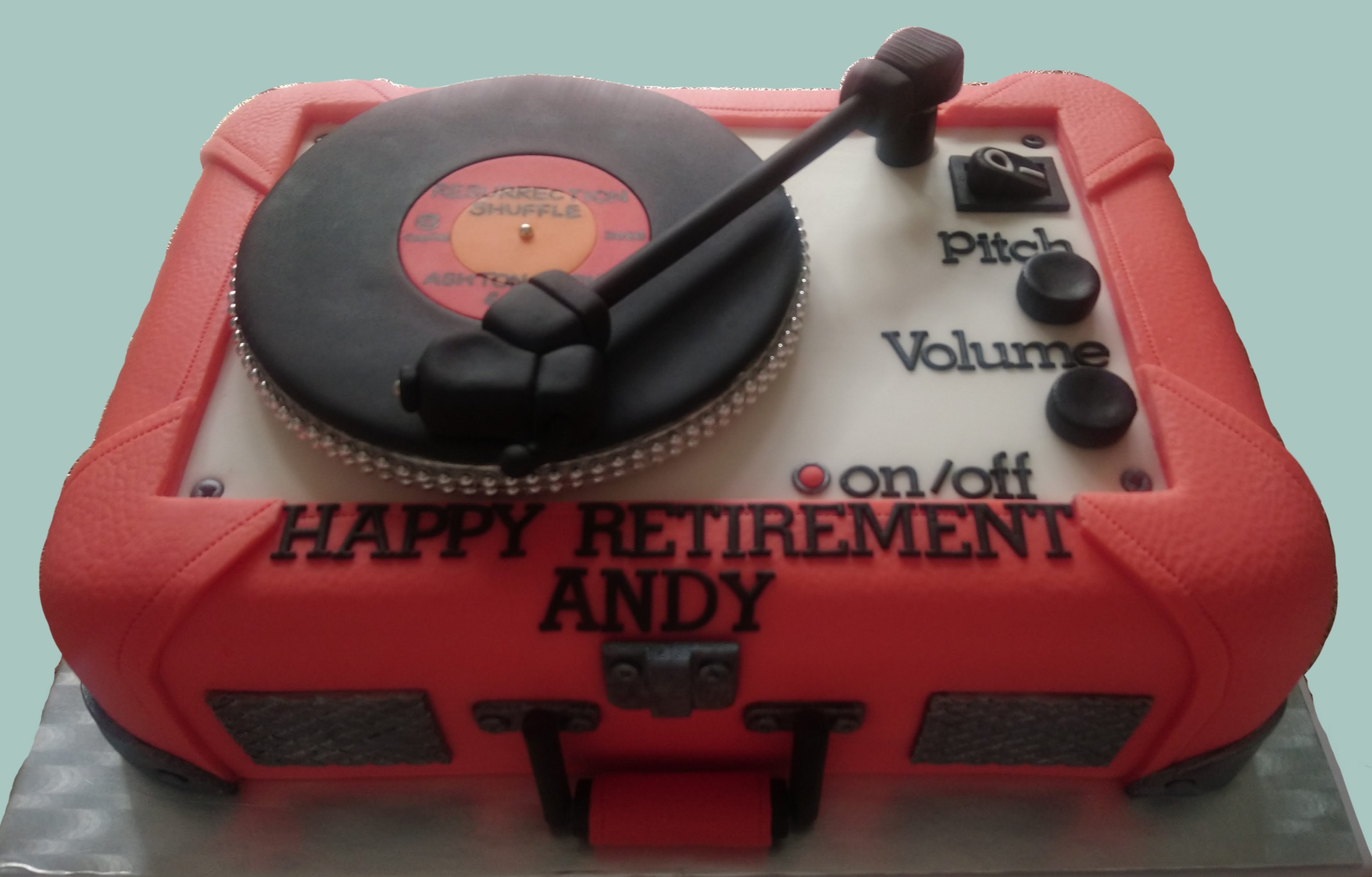 Vintage Record Player Cake