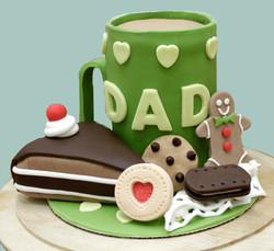 Dad Mug & Treats Cake