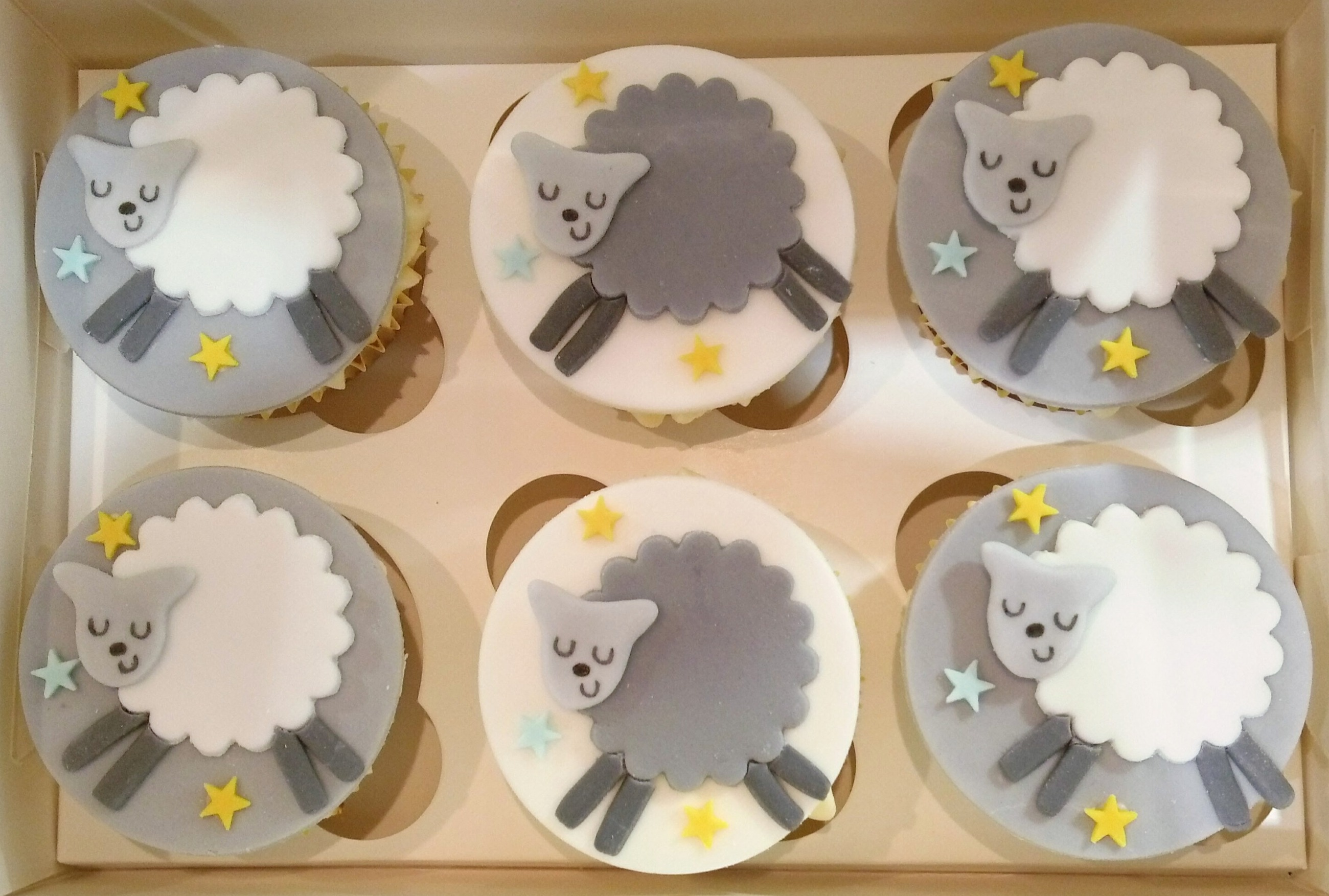 Counting Sheep Cupcakes
