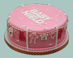 Female Baby Shower Clothing Line Cake