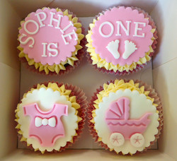 Baby Girl Birthday Cupcakes