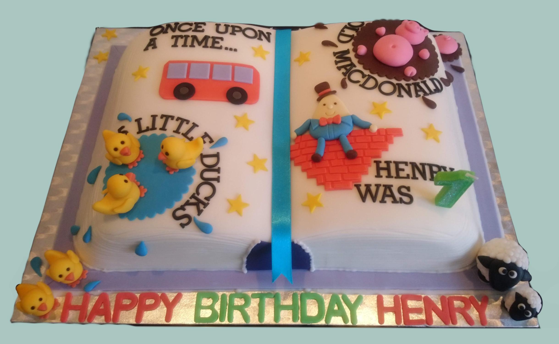 Nursery Rhymes Storybook Cake