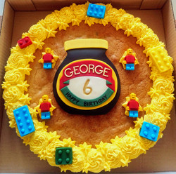 Marmite and Lego Giant Cookie