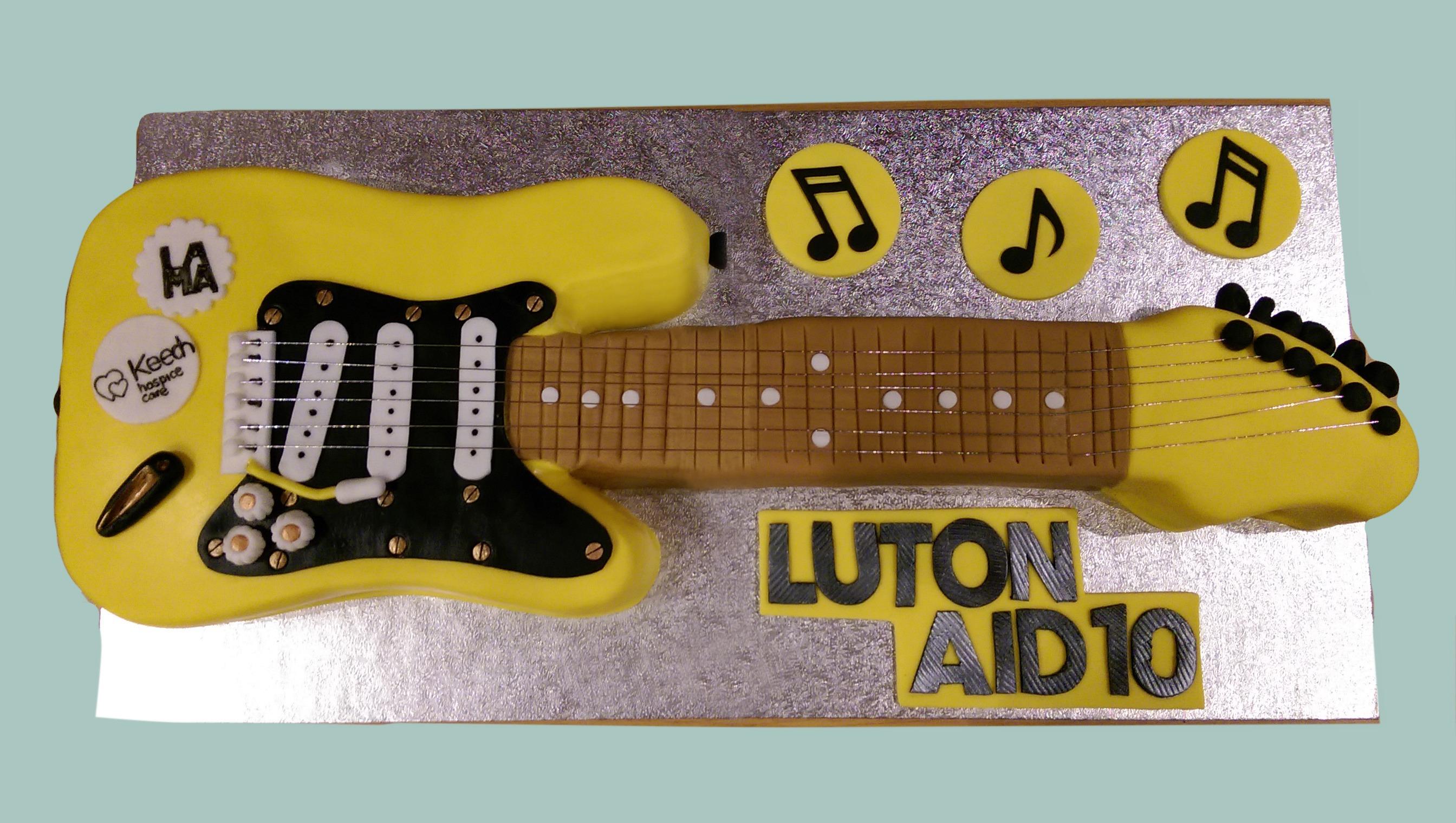 Luton Aid Guitar Cake