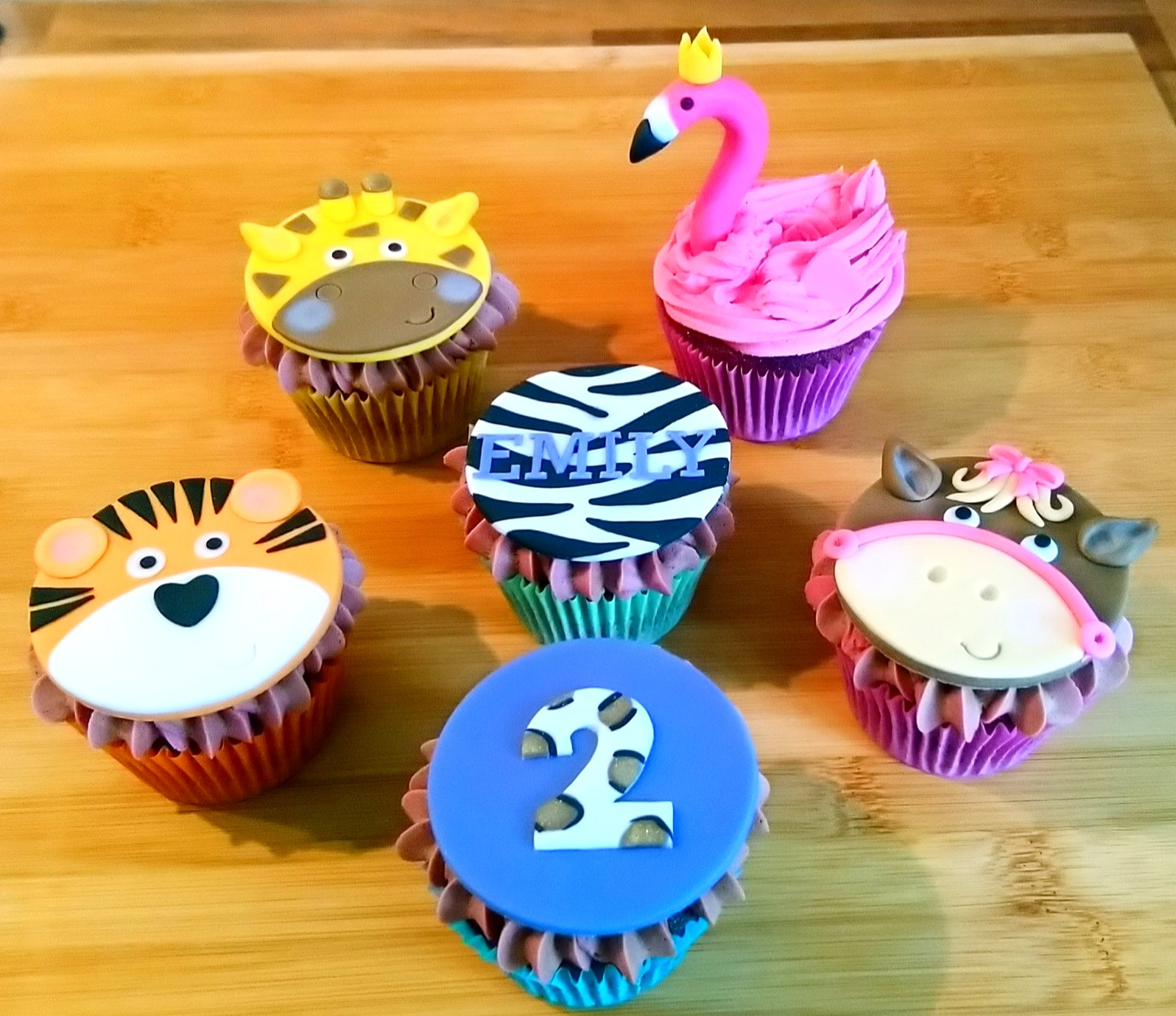 Animal Themed Birthday Cupcakes