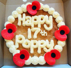 Poppy Themed Birthday Giant Cookie