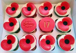 Poppy Birthday Cupcakes