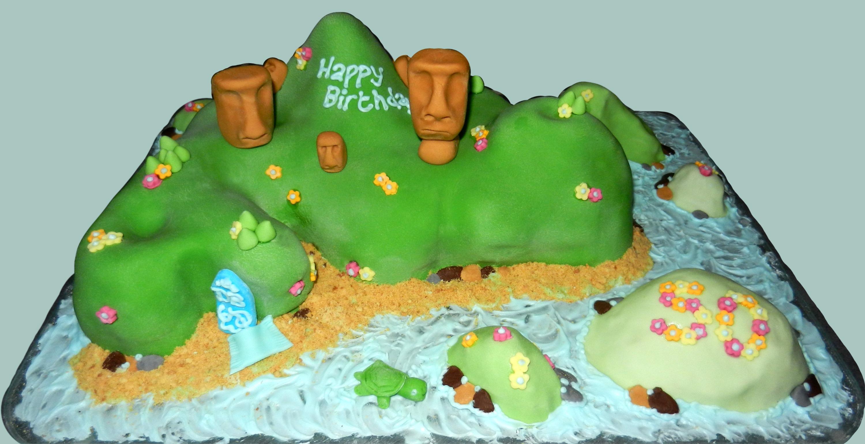 Easter Island Cake