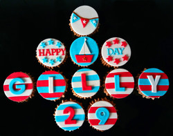 Happy Boat Day Cupcakes