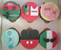 Six Decades Birthday Cupcakes