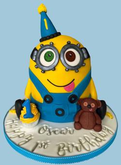 3D Minion Bob and Tim Teddy Cake